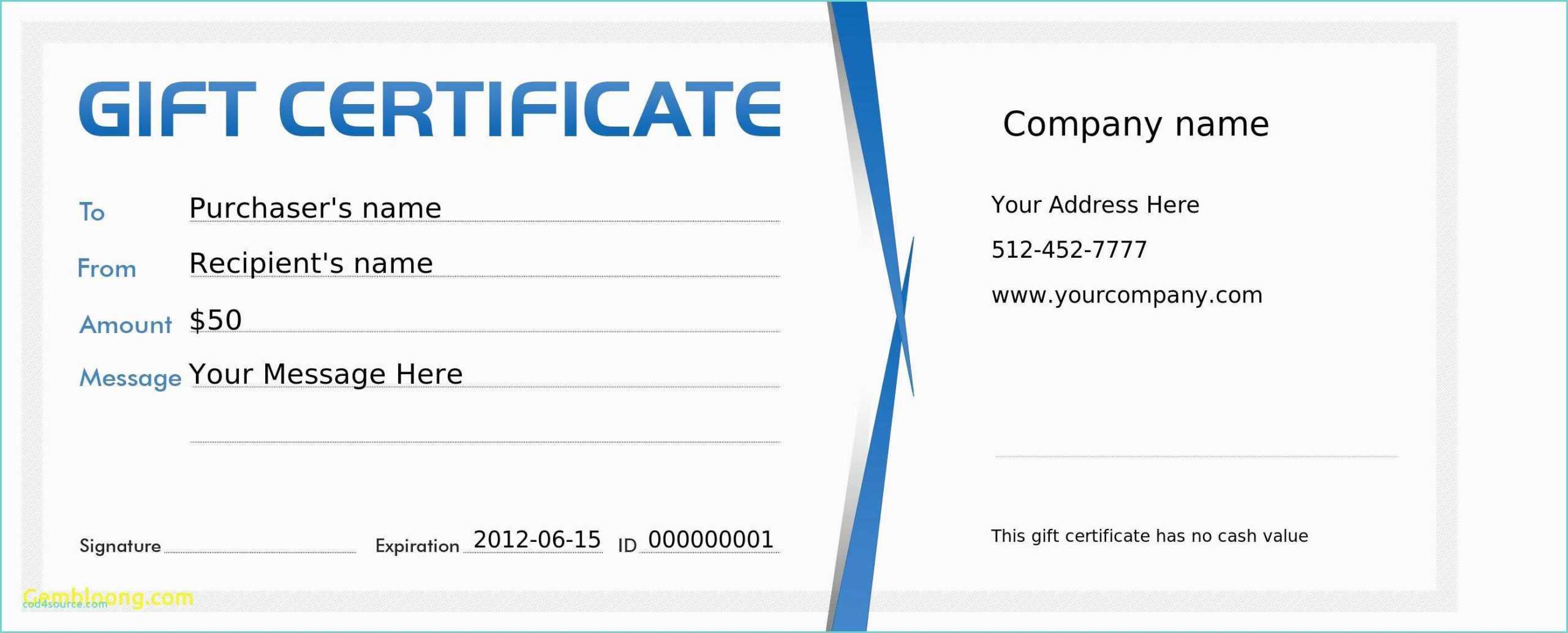 Gift Certificate Template Microsoft Publisher Within Publisher Gift Certificate Template