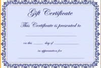 Gift Certificate Template Png | Certificatetemplategift regarding Free Certificate Templates For Word 2007