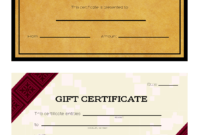 Gift Certificate Templates – Wikihow within Homemade Christmas Gift Certificates Templates