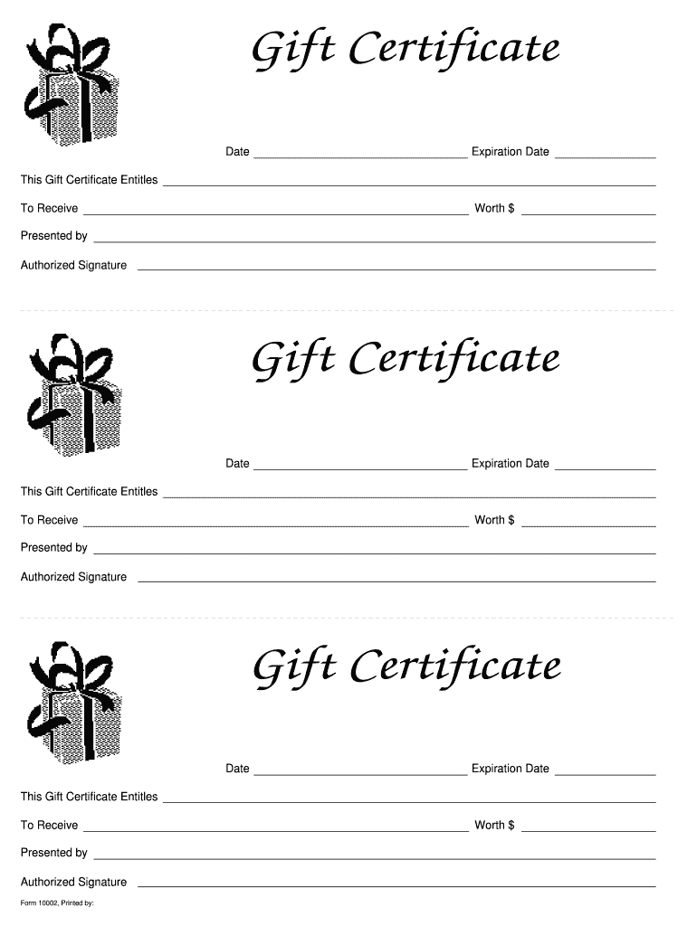 Gift Certificates Templates Free - Zohre.horizonconsulting.co With Black And White Gift Certificate Template Free