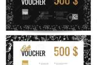 Gift Voucher Coupon Discount. Elegant Gift Certificate Template.. with regard to Elegant Gift Certificate Template