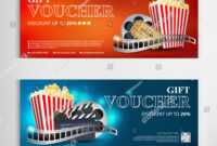 Gift Voucher Movie Template Modern Pattern Stock Vector within Movie Gift Certificate Template
