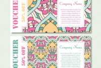 Gift Voucher Template With Mandala. Design Certificate For inside Yoga Gift Certificate Template Free