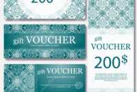 Gift Voucher Template With Mandala. Design Certificate For regarding Magazine Subscription Gift Certificate Template