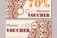 Gift Voucher Template With Mandala. Design Certificate For within Magazine Subscription Gift Certificate Template