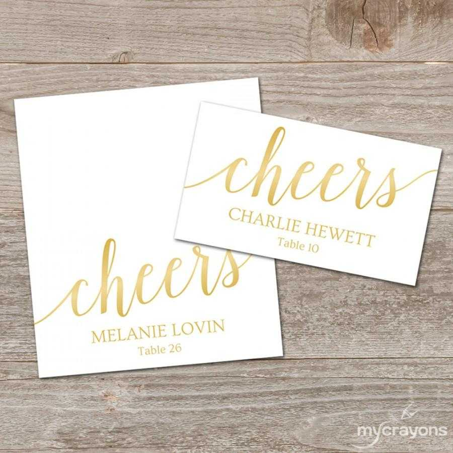 Gold Place Cards Printable Template, Editable Gold Regarding Printable Escort Cards Template