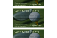 Golf Gift Certificate | Templates At Allbusinesstemplates throughout Golf Certificate Template Free