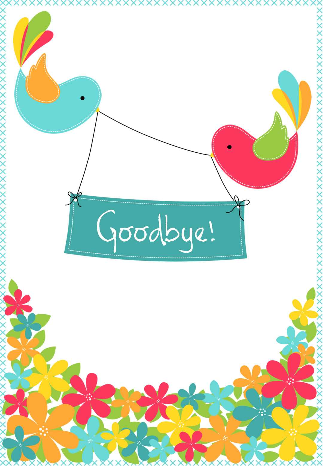 Goodbye From Your Colleagues - Good Luck Card (Free Inside Good Luck Card Template
