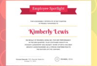 Gradient Employee Recognition Certificate Template with Leadership Award Certificate Template