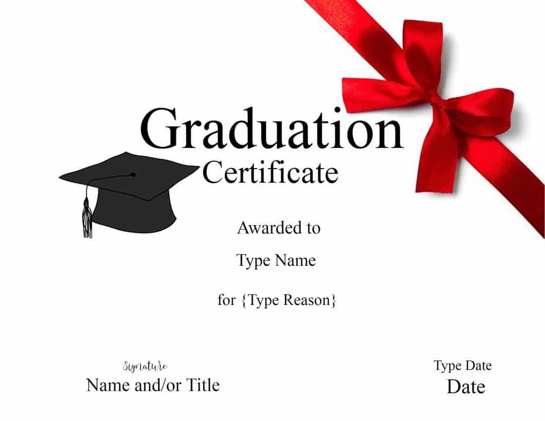 Graduation Gift Certificate Template Free Templates Within Graduation Gift Certificate Template Free