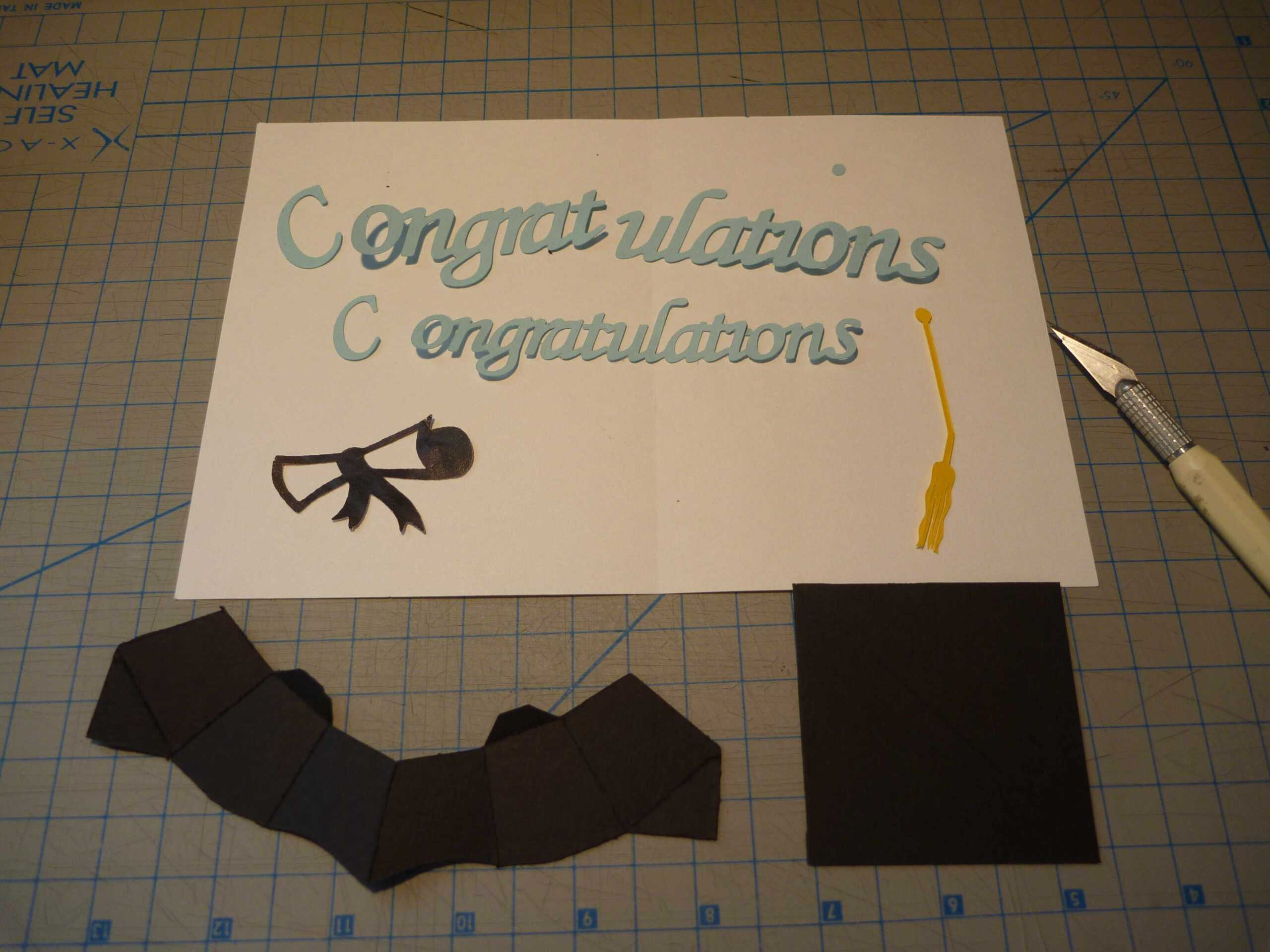 Graduation Pop Up Card: 3D Cap Tutorial - Creative Pop Up Cards Within Graduation Pop Up Card Template