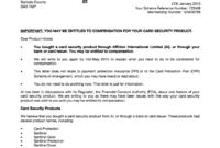 Had Sentinel Card Protection But Not Received A Redress pertaining to Ppi Claim Letter Template For Credit Card