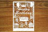Happy Birthday Card Svg Files For Silhouette Cameo And pertaining to Silhouette Cameo Card Templates