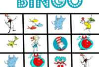 Happy Birthday Dr. Suess And Free Printable Bingo Game inside Dr Seuss Birthday Card Template
