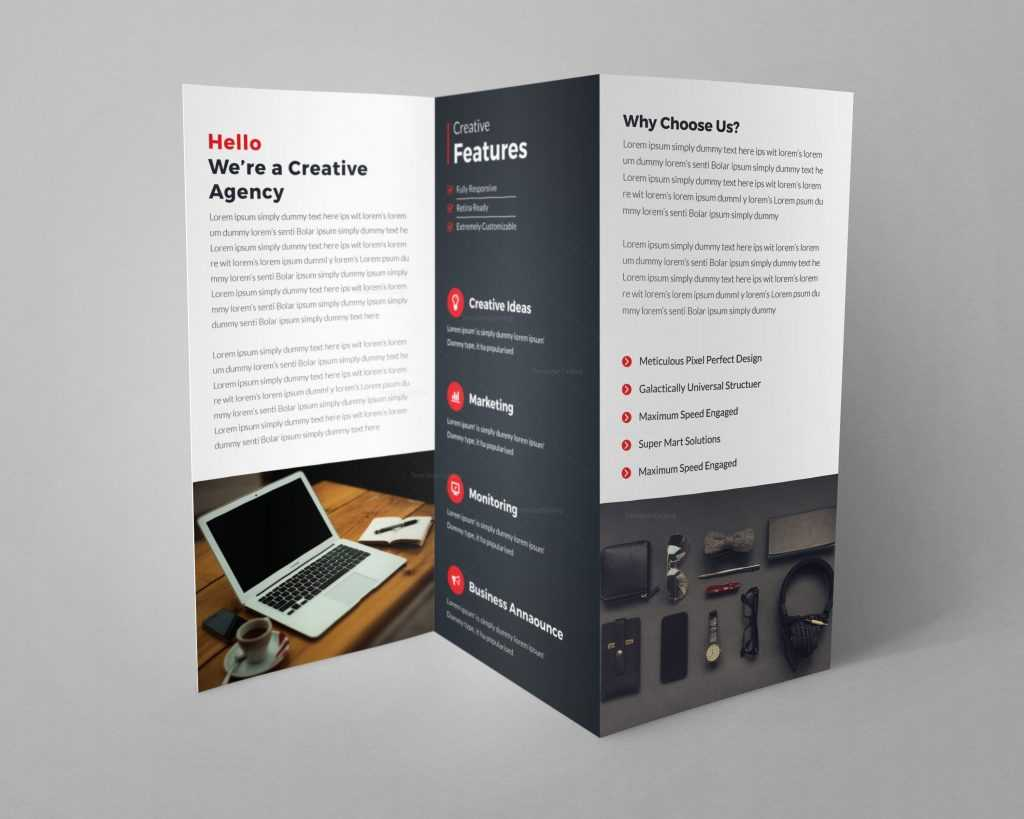Helsinki Professional Tri Fold Brochure Design Template – Graphic Templates Inside Professional Brochure Design Templates