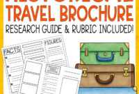 Historical Travel Brochure And Research Project   Literacy for Brochure Rubric Template