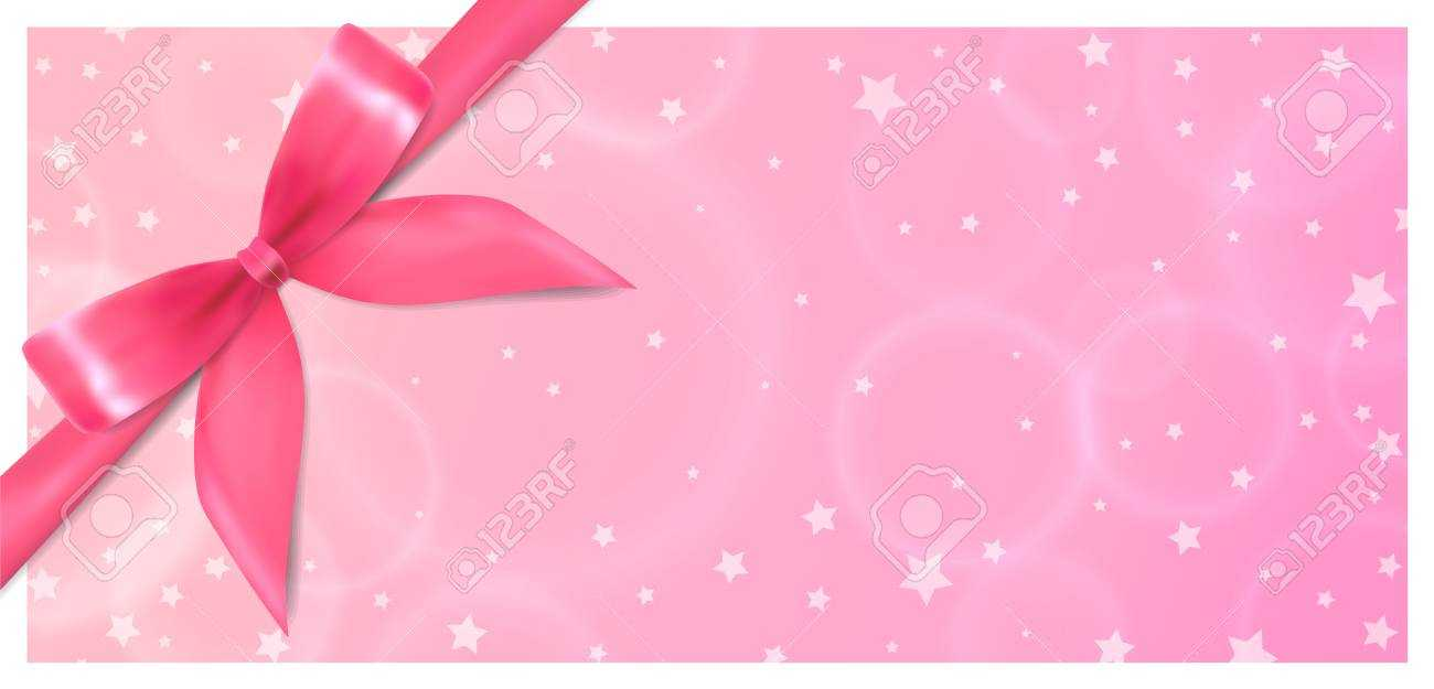 Holiday Gift Certificate, Gift Voucher, Coupon Template. Pink.. In Pink Gift Certificate Template