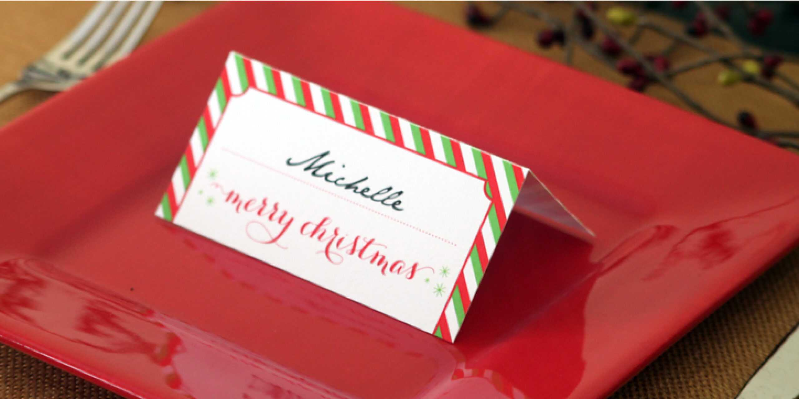 Holiday Place Card Diy Printable With Regard To Place Card Setting Template