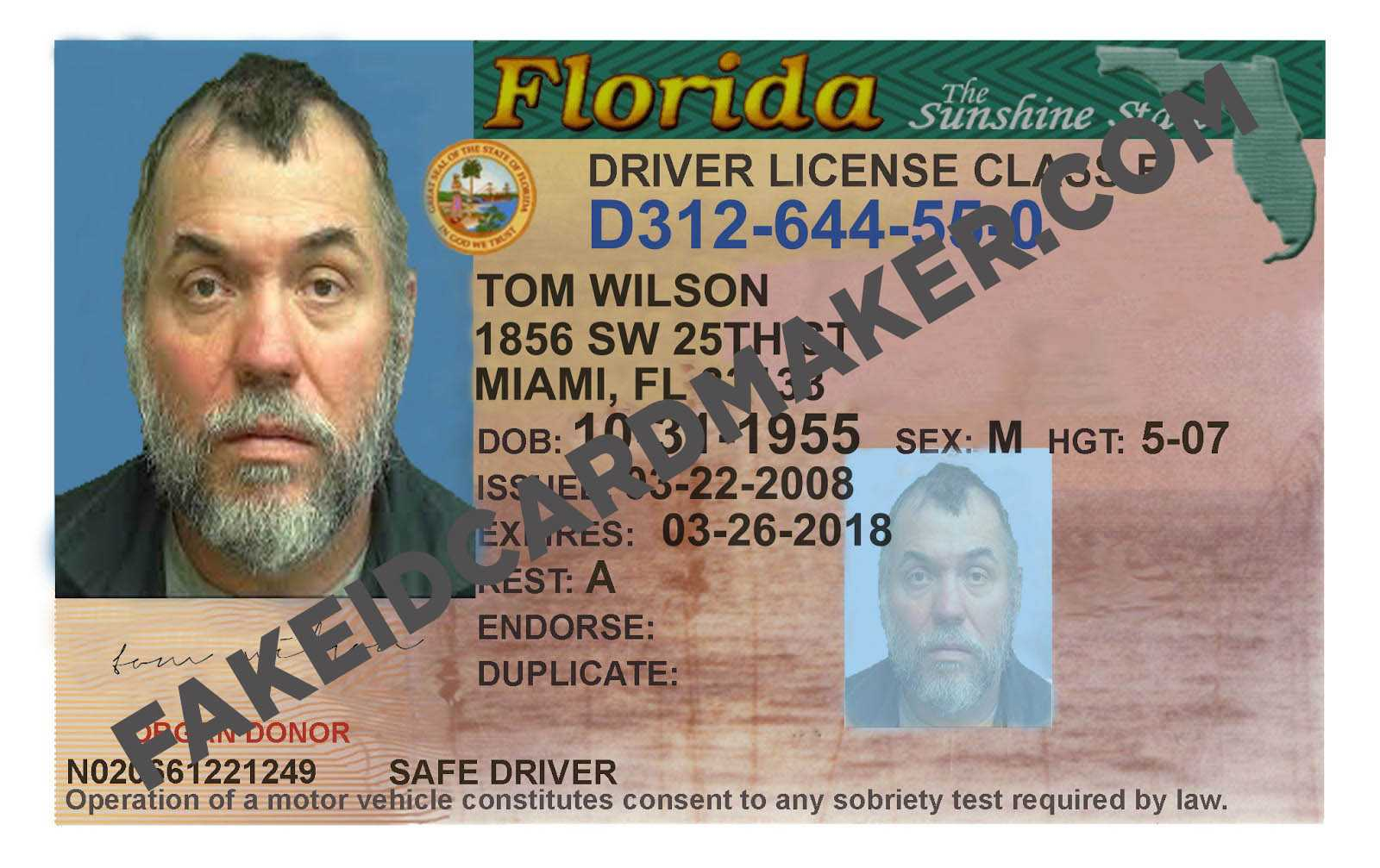 Homepage – Fake Id Card Maker With Regard To Florida Id Card Template