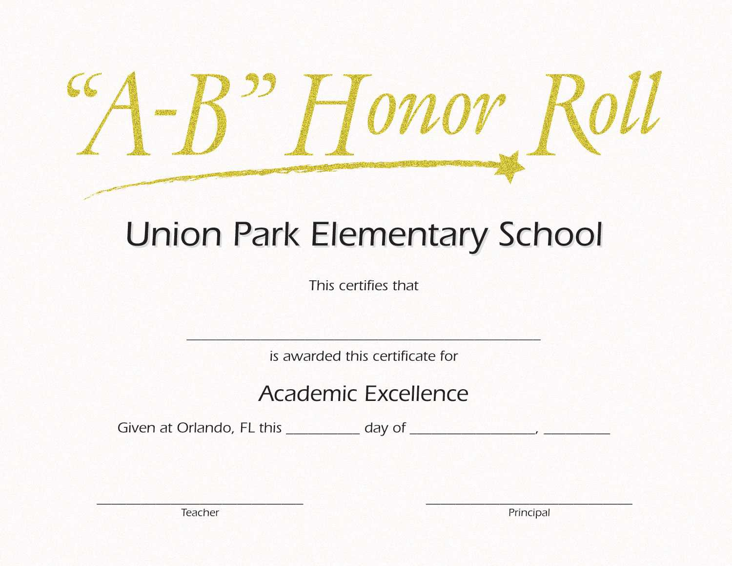 Honor Roll Templates. Honor Roll Certificate Templates A In Honor Roll Certificate Template