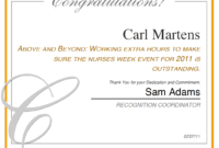 Hospital Recognition Tools For Employee Recognition with Employee Anniversary Certificate Template