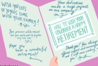 How To Best Wish Your Coworker A Happy Retirement in Retirement Card Template