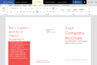 How To Create A Trifold Brochure In Word Online Within Ms Word Brochure Template