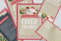 How To Host A Cookie Exchange (W/ Free Printables!) – I intended for Cookie Exchange Recipe Card Template