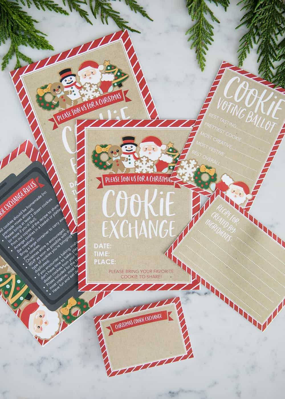 How To Host A Cookie Exchange (W/ Free Printables!) - I Intended For Cookie Exchange Recipe Card Template