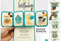 How To Make A Twist Pop Up Birthday Card | Christina Hor Designs within Twisting Hearts Pop Up Card Template