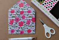 How To Make Diy Envelopes Tutorial – Hello Creative Family regarding Envelope Templates For Card Making