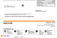 How To Read A Credit Card Statement | Discover within Credit Card Statement Template