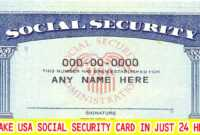 I Will Design Or Edit Your Social Security Card Number And inside Social Security Card Template Photoshop