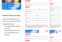 Ice Cards – Fill Online, Printable, Fillable, Blank | Pdffiller intended for Emergency Contact Card Template
