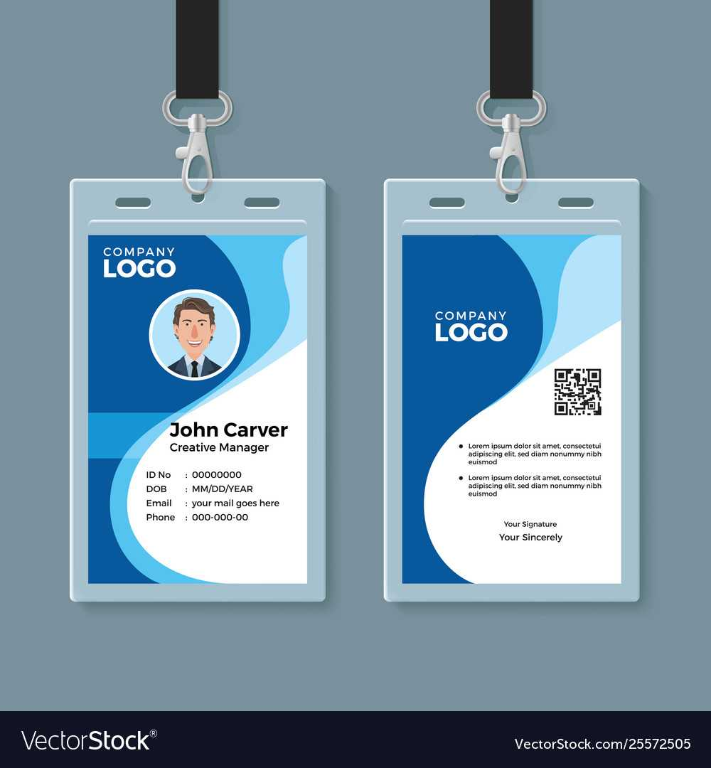 Identity Cards Design - Zohre.horizonconsulting.co Within Company Id Card Design Template