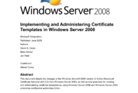 Implementing And Administering Certificate Templates throughout Certificate Authority Templates