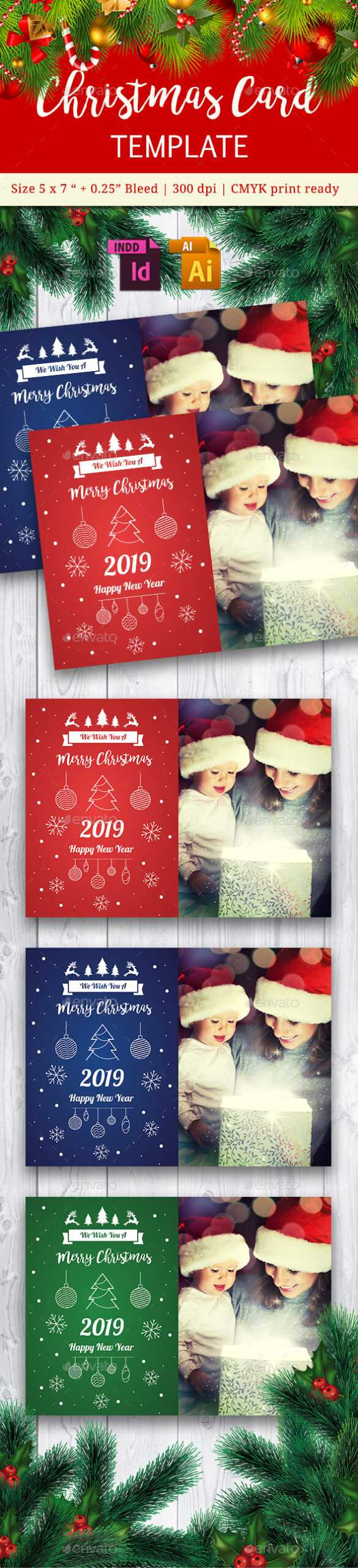 Indesign Card Designs & Templates From Graphicriver With Regard To Indesign Birthday Card Template