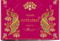 Indian Wedding Invitation Card Templates . Stock Vector for Indian Wedding Cards Design Templates