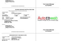Insurance Card Template – Fill Online, Printable, Fillable with Free Fake Auto Insurance Card Template