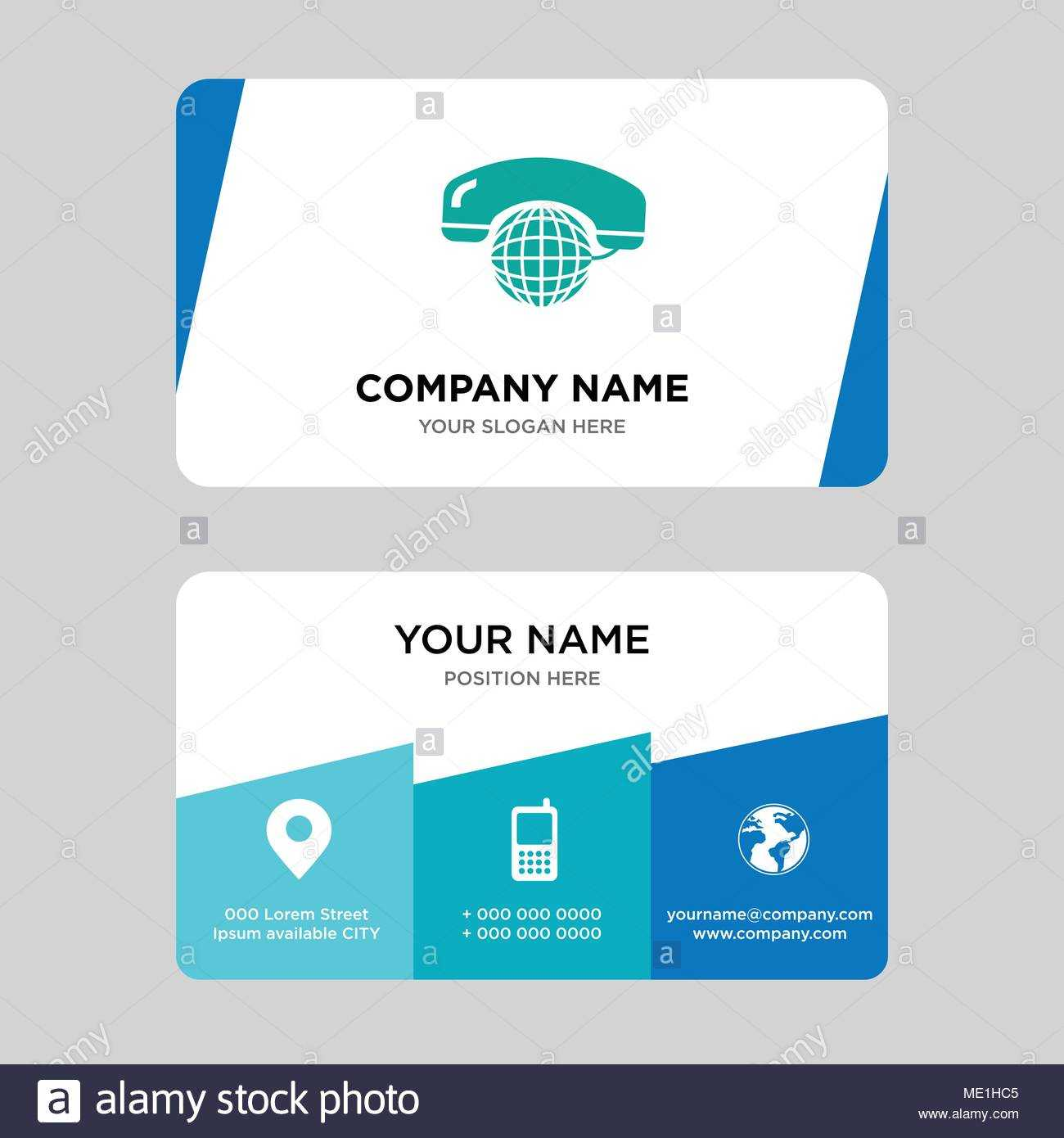 International Calling Service Business Card Design Template Inside Call Card Templates