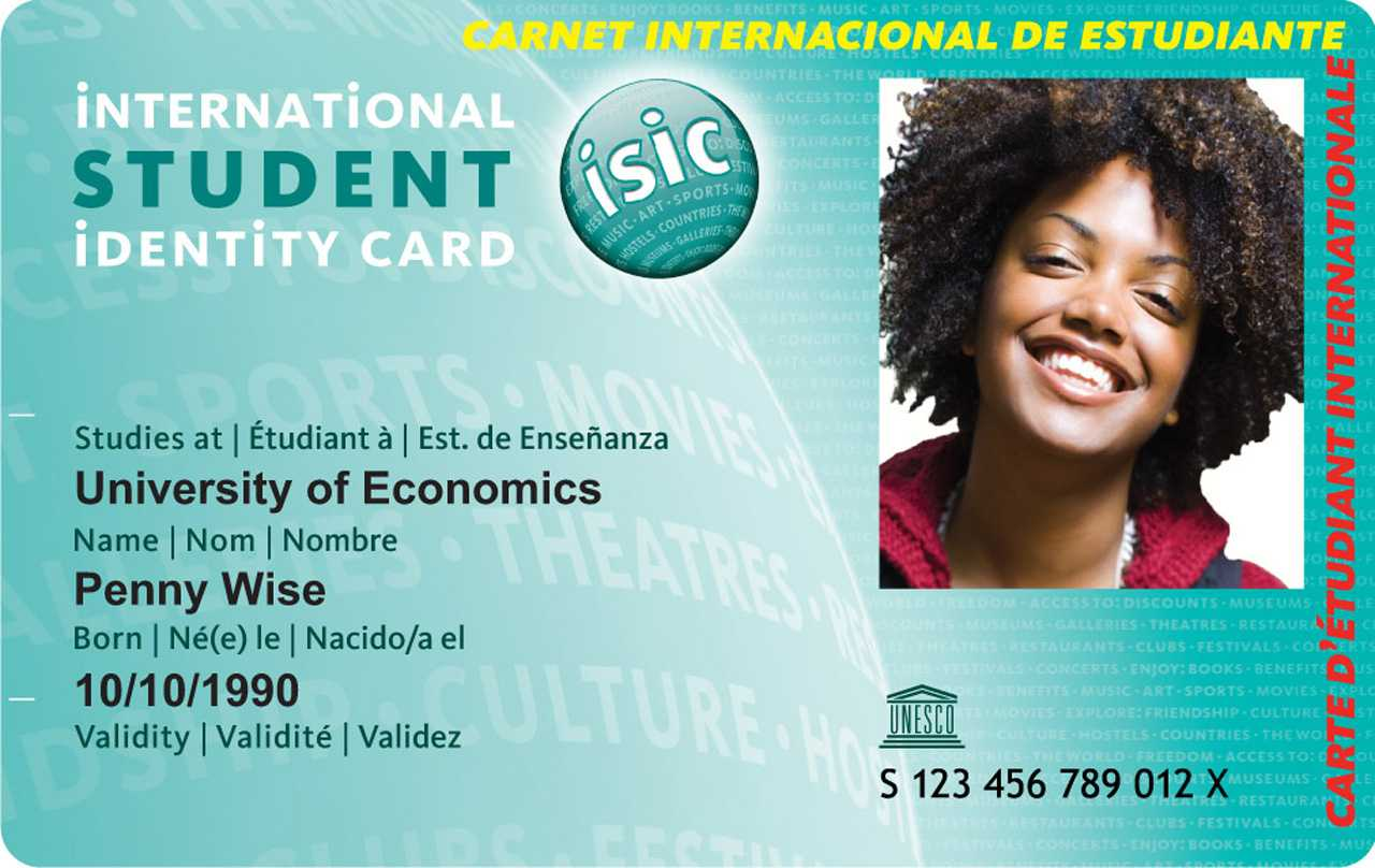 International Student Card Intended For Isic Card Template