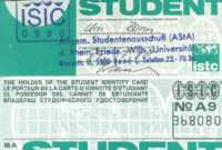 International Student Identity Card – Wikiwand inside Isic Card Template