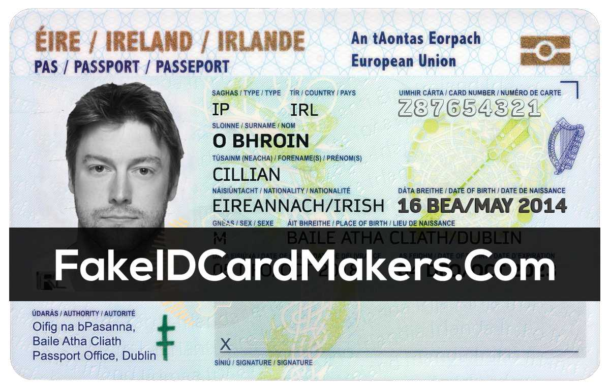 Ireland Id Card Template Psd [Irish Proof Of Identity] Within Florida Id Card Template