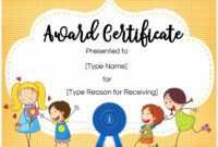 Kids Award Template – Zohre.horizonconsulting.co inside Gymnastics Certificate Template
