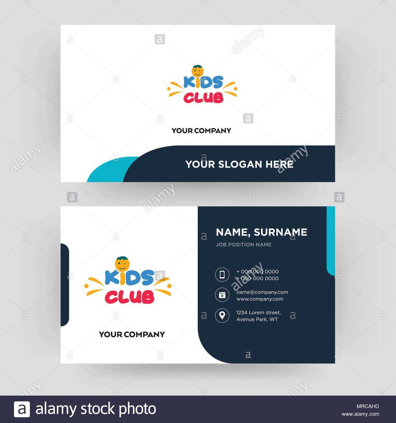 Kids Club, Business Card Design Template, Visiting For Your Throughout Id Card Template For Kids