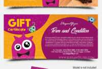 Kids – Free Gift Certificate Psd Template –Elegantflyer pertaining to Kids Gift Certificate Template