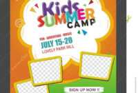 Kids Summer Camp Banner Poster Design Template For Kids with regard to Summer Camp Brochure Template Free Download