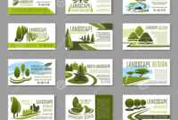 Landscape Design Studio Business Card Template Stock Vector throughout Lawn Care Business Cards Templates Free