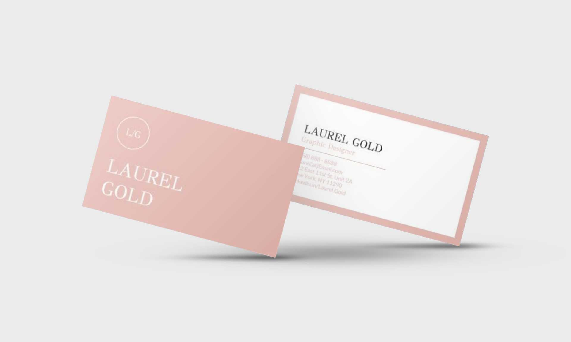 Laurel Gold Google Docs Business Card Template - Stand Out Shop Inside Google Docs Business Card Template