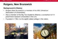 """Life As A Faculty Member At Rutgers Or """"Doing What You Love with Rutgers Powerpoint Template"""